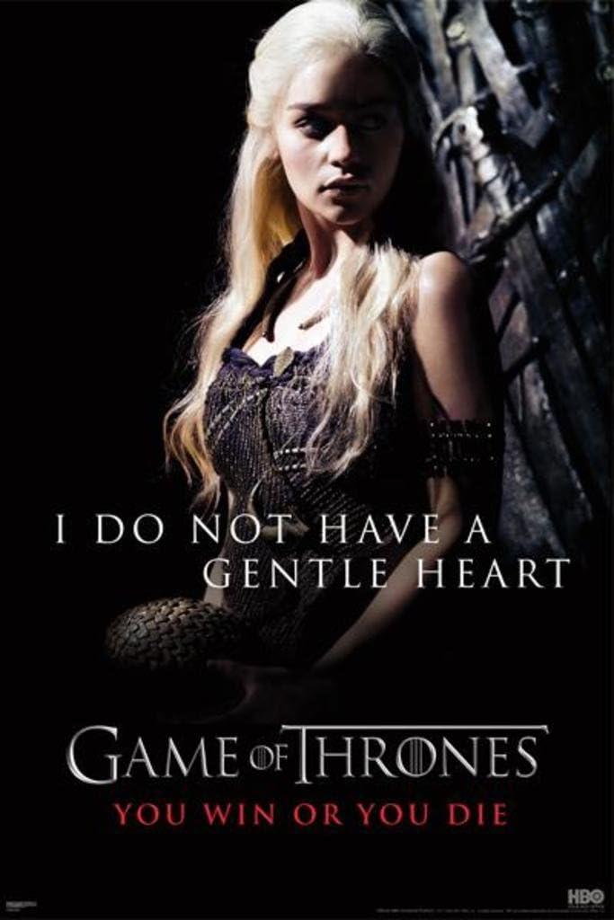 60,96 x 91,44 cm Game of Thrones Gentle Heart Poster