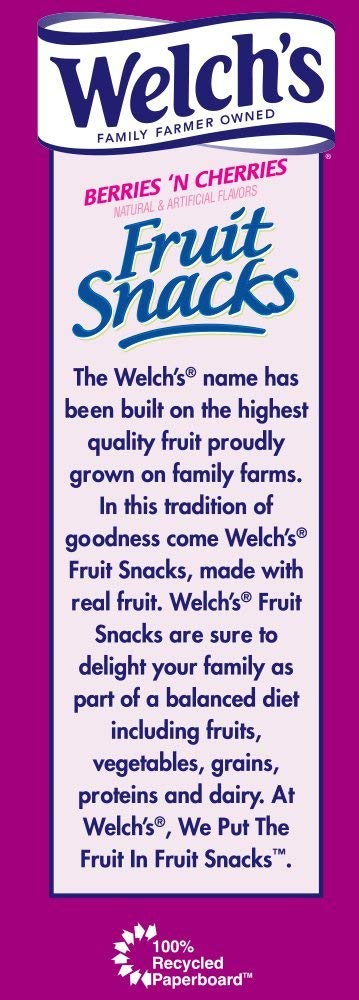 WELCH'S Berries 'n Cherries Fruit Snacks, 0.9 Ounce, 65 Count (65 Count) by Welch's (Image #4)