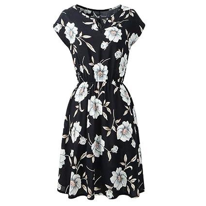 AUDBURN Frauen Frühling Herbst Sommer Casual Kleid Blusen Kleid lose Tunika Casual Kleid