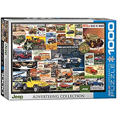 EuroGraphics Jeep Vintage Ads Jigsaw Puzzle (1000 Piece): Toys & Games