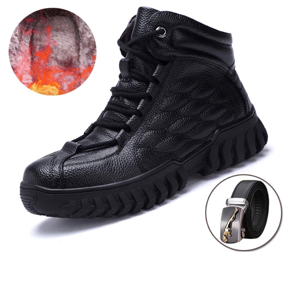Stiefel Herren Wasserdichtes Leder Stiefel Winter Laine Mit Pelz Warm Schuhe Gummi-Ankle-Schuhe 39-43