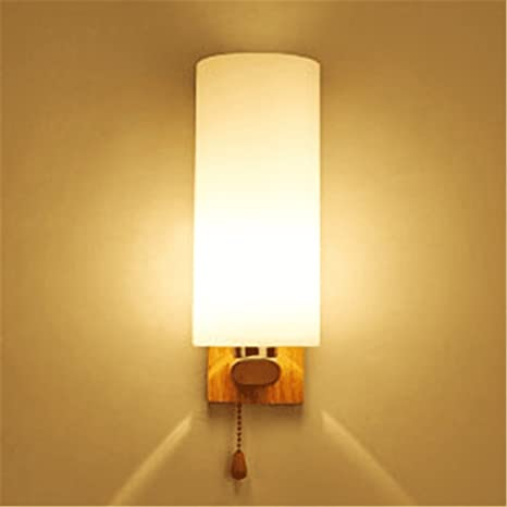 CGHYY Modern Indoor Decoration Wall Lamps Led Wood Art Color