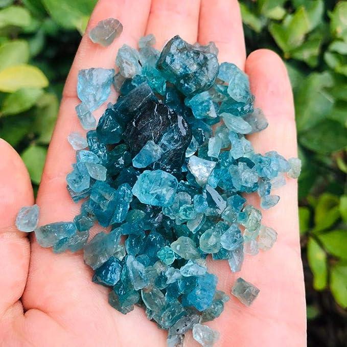 Pierres de cristal de quartz naturel rares bleues traitement de guérison S ./_dy