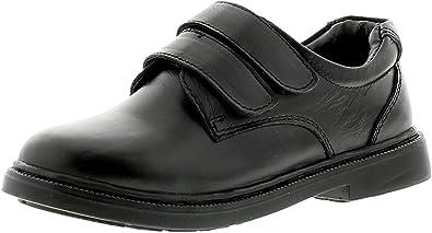 Lambretta Logan Boys Leather School Shoes Black