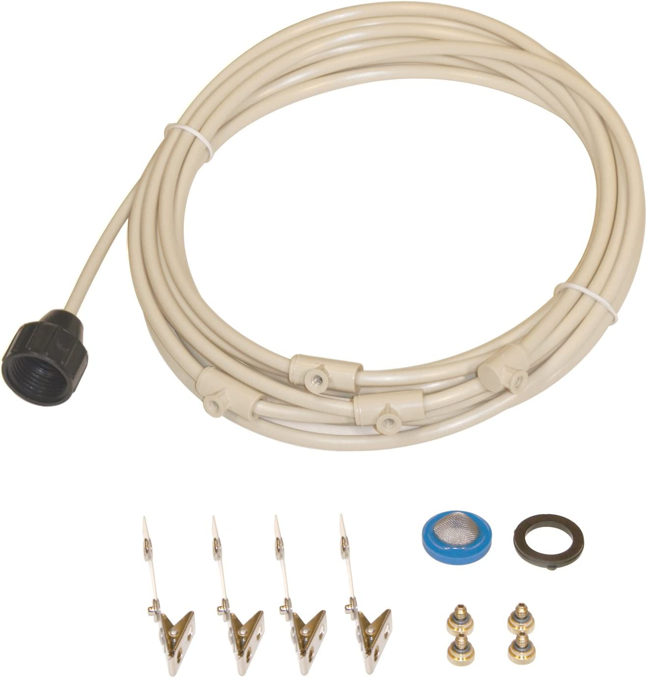"SPT SM-1404: 1/4"" Misting Cooling Kit with 4 Nozzles (Made in USA)"