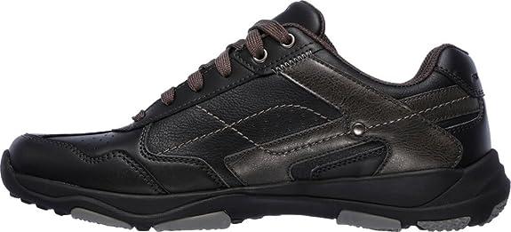 Skechers Men's Larson Havon Sneaker,Black,US 9.5 M