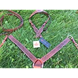 Western Headstall Breastcollar Tack Set Floral Tooled Western Tack Set