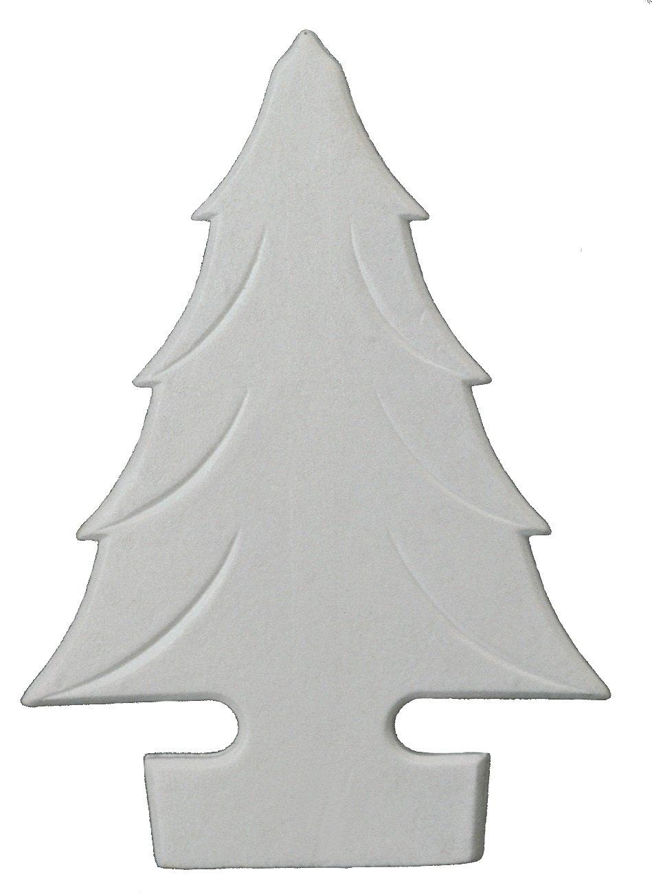 Italveneta Didattica 9155–Set 3Weihnachtsbäume aus Styropor zum Hängen, Höhe 40cm, weiß