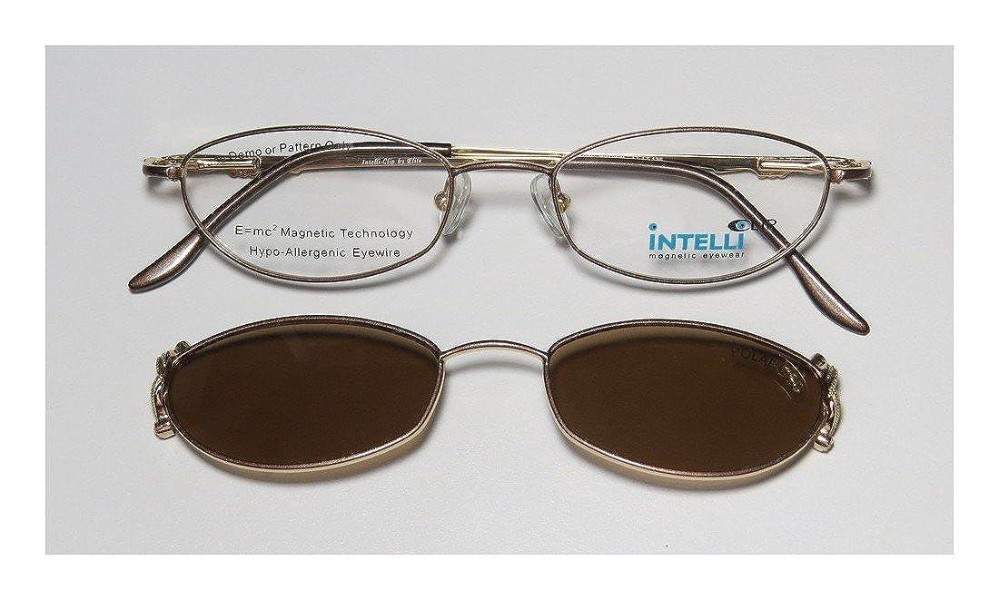 ff26720040a Amazon.com  Elite Eyewear Intelli Clip 750 For Ladies Women Designer Full-Rim  Shape Sunglass Lens Clip-Ons Rhinestones Flexible Hinges Eyeglasses Eyeglass  ...