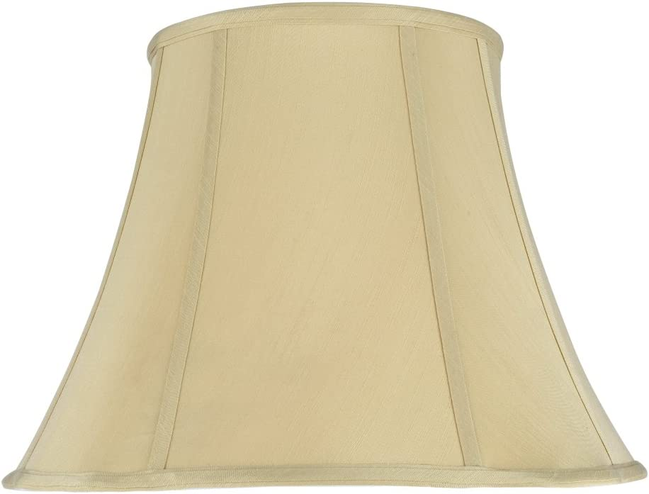 Aspen Creative 34016 Transitional Scallop Bell Shape Spider Construction Lamp Shade in Beige, 16 wide 9 x 16 x 12