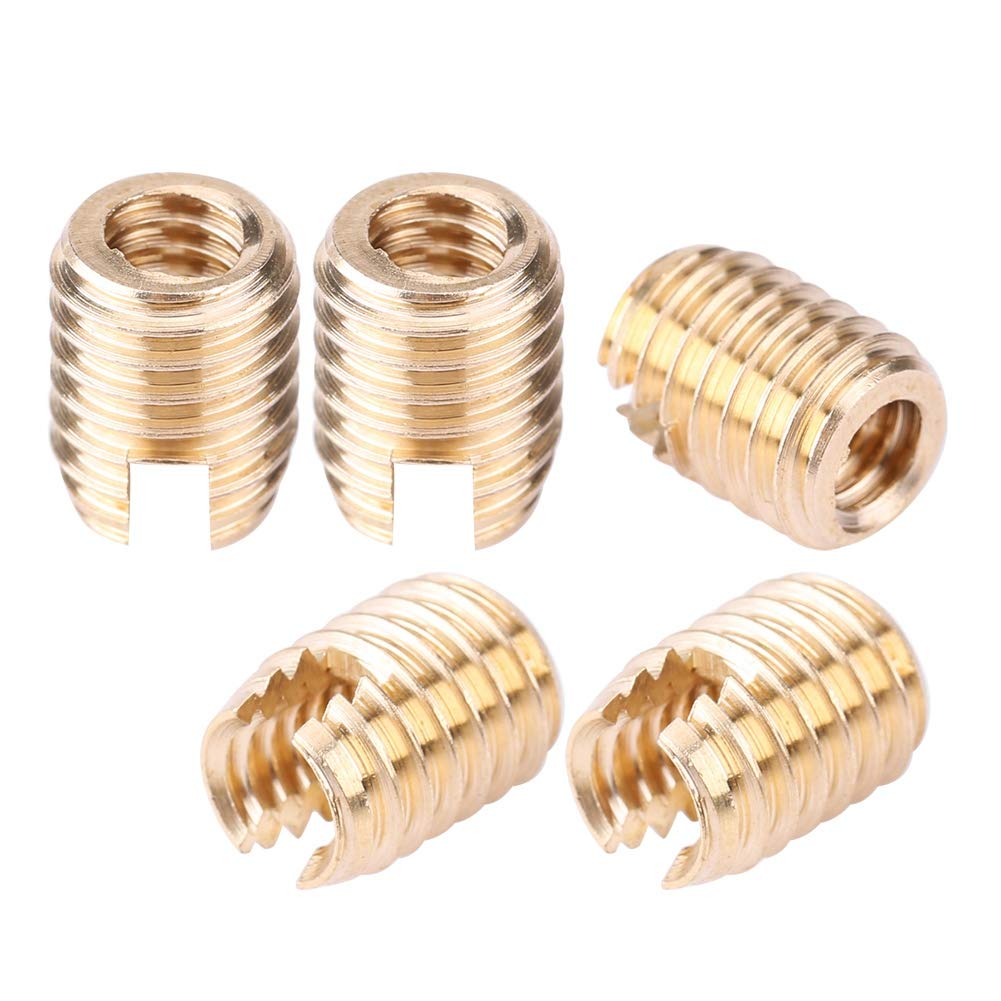 KIMISS 5Pcs Batwing Fairing Brass Insert Bolt Nut Replacement For Harley Touring 1996-2016
