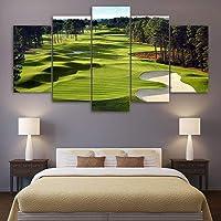 Yarmy Art Decor HD 5 Pezzi Golf Pittura Tela Vivente Ostello Decorazione della Parete Pittura Senza Cornice La casa è più Artistica
