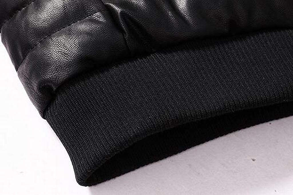 FSSE Men Warm Zip Up Solid Color Slim Fit Winter Down Quilted Jacket Coat