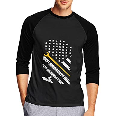 Mens American Flag Ironworker Shirt