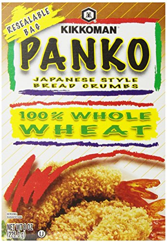 (Kikkoman Japanese Style Whole Wheat Panko Bread Crumbs 8 ounce Resealable Package )