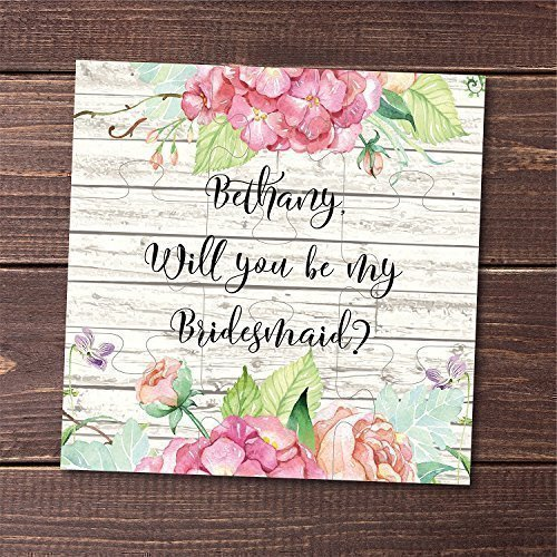 Will You Be My Bridesmaid Puzzle Gift Wedding Invitation