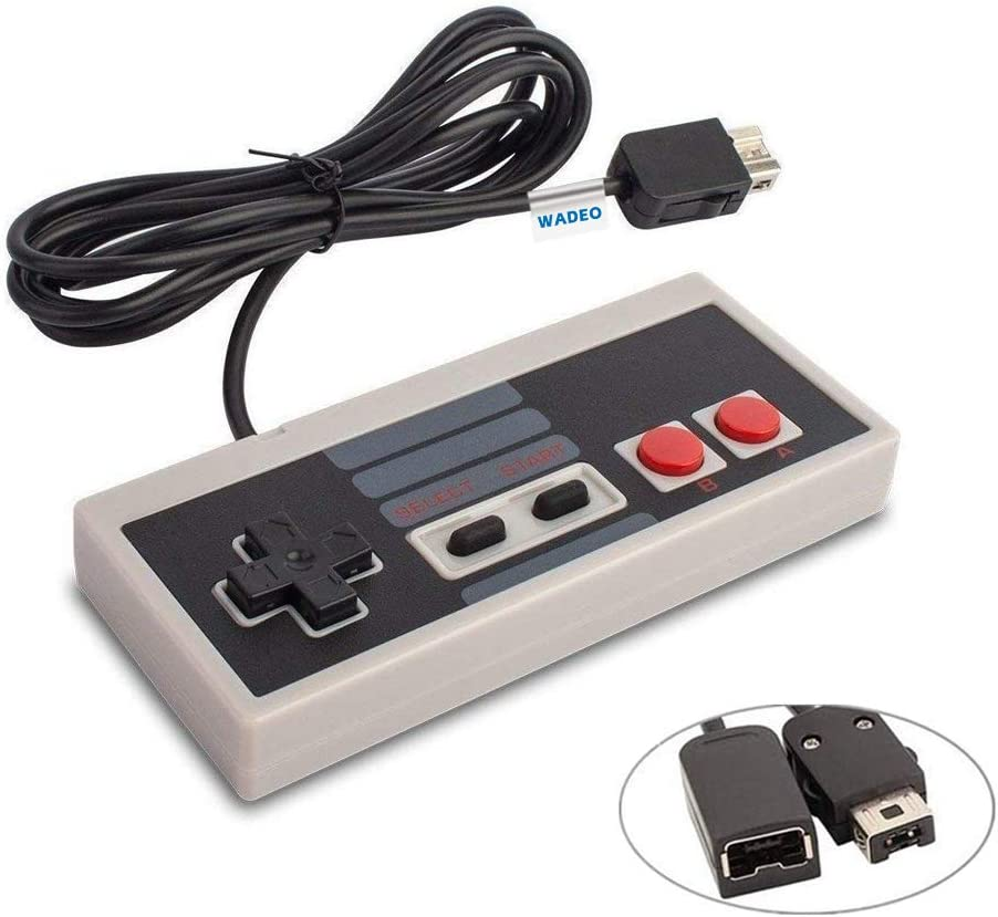 Nintendo Clásica, WADEO Nes Mimi Classic Mando Controlador de Juegos Consolas para Nintendo Mini Edición Clásica de NES con Cable de 1,8m