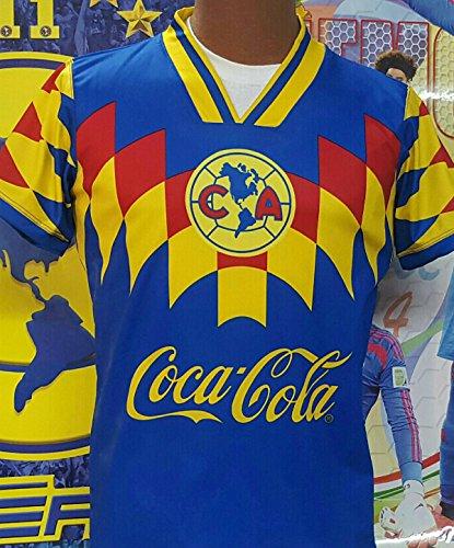 44419f5e3 Throwback Club Aguilas del America Soccer Retro Royal Blue Jersey 1995  (2XL) - Buy Online in Oman.