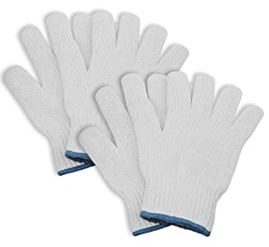 2 Pairs of KOSMOS Trade Oven Cotton Gloves - Heat Resistant BBQ and Oven High Temp Gloves - 2 Pack