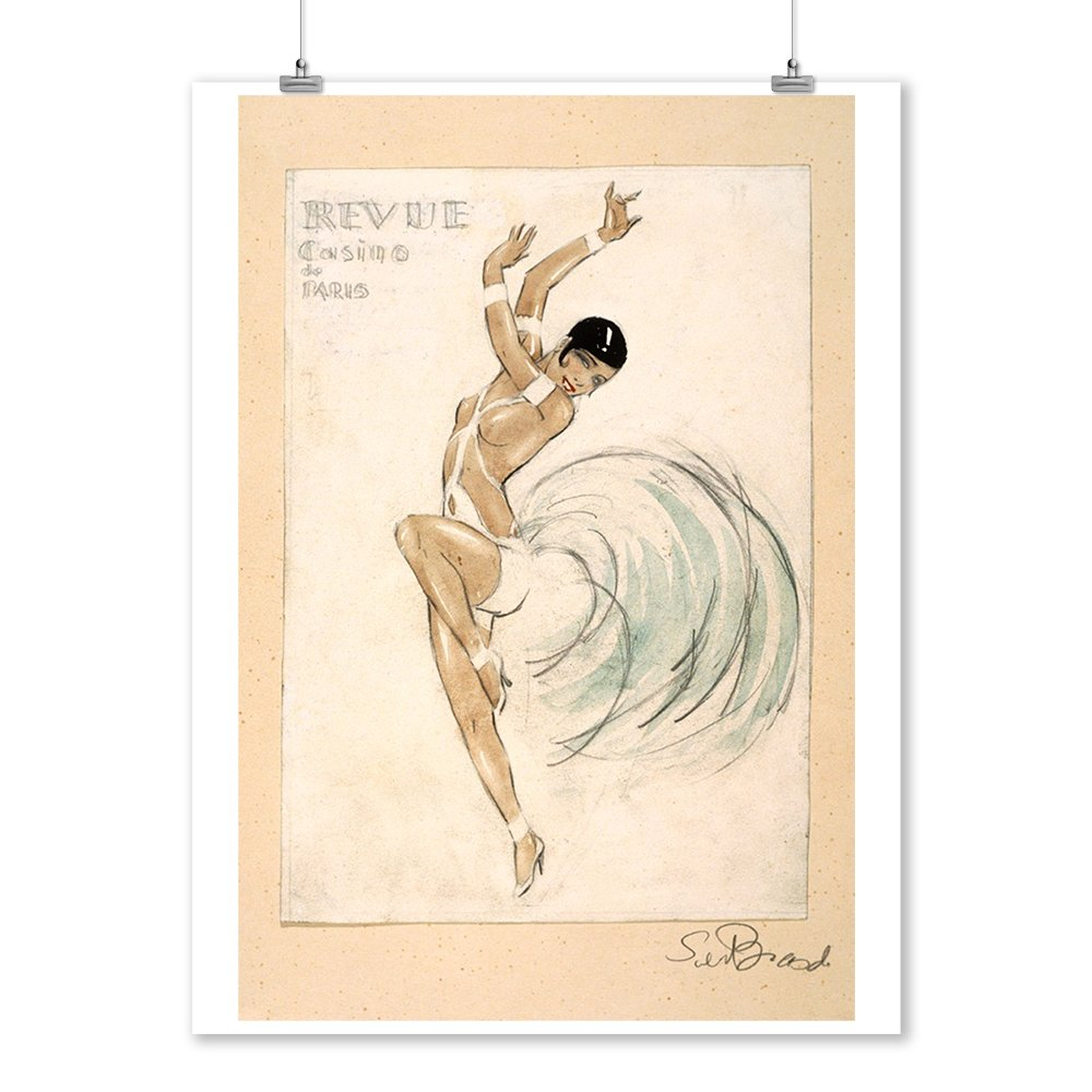 Amazon.com: France - Casino de Paris - Revue (Josephine Baker) - (artist: Brasch) - Vintage Advertisement (9x12 Art Print, Wall Decor Travel Poster): ...