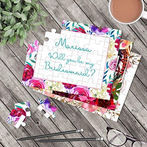 Personalized Bridesmaid Puzzle - Puzzle Proposal - Asking Bridesmaid - Wedding Announcement Ideas - P2097-P2129