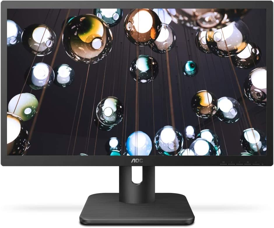 "AOC 22E1H 21.5"" HD 1900x1080 Monitor, 5ms, Flickerfree, HDMI/VGA, Vesa Compatible, Epeat Silver, EnergyStar"