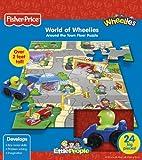 Fisher-Price Around The Town World of Wheelies Activity Floor Puzzle (Little People), 24-Piece
