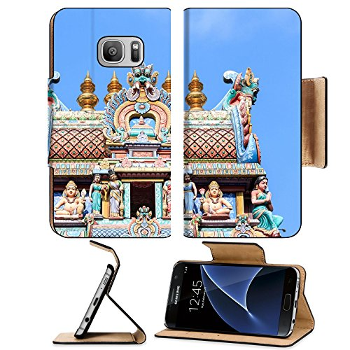 Liili Premium Samsung Galaxy S7 Flip Pu Leather Wallet Case IMAGE ID 33033916 Detail of Sri Mariamman temple in - Singapore Privacy Glass