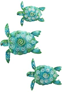 Regal Art U0026 Gift Sea Turtle Beach Ocean Summer Metal Wall Art (3 Piece