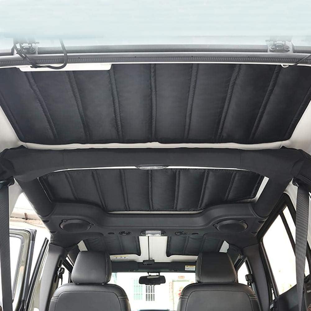 Hardtop Sound Deadener Bisagras de aislamiento t/érmico gruesas y duraderas aislamiento t/érmico para 2 puertas//4 puertas para Jeep Wrangler JK 12-17-negro Four-door version 12-17 years negro