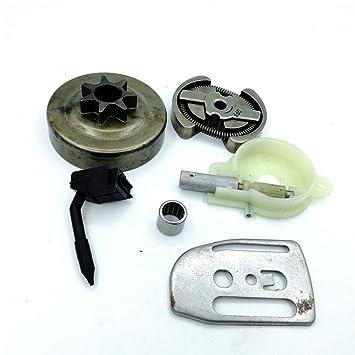 Shioshen Kit de Placa de Embrague Tambor Aceite Bomba Worm Gear Barra.325 7T para Motosierra Husqvarna 136 137 141 142 36 41 530069342/530014949: Amazon.es: ...