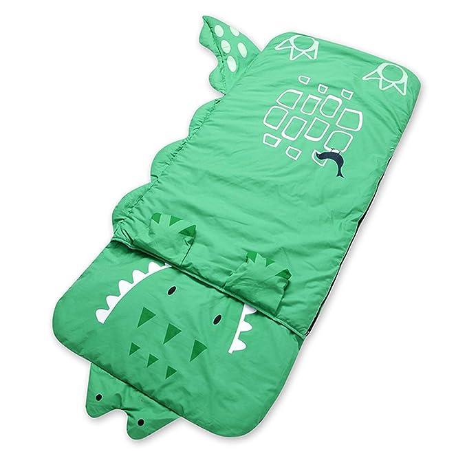 Para niños HuaYang Vídeo de dibujos animados de saco de dormir cm 140 cm con almohada * (de color verde piel de cocodrilo) 60: Amazon.es: Ropa y accesorios