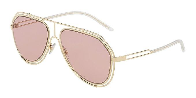 feee67a2573d Amazon.com  Dolce   Gabbana EMPTY CUT DG 2176 PALE GOLD PINK 59 15 ...