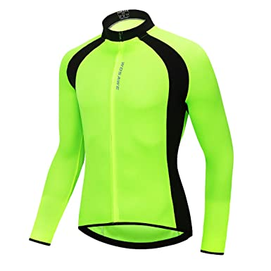 WOSAWE Men s Lightweight Long Sleeve Cycling Jersey Breathable Bike  Softshell 330206657
