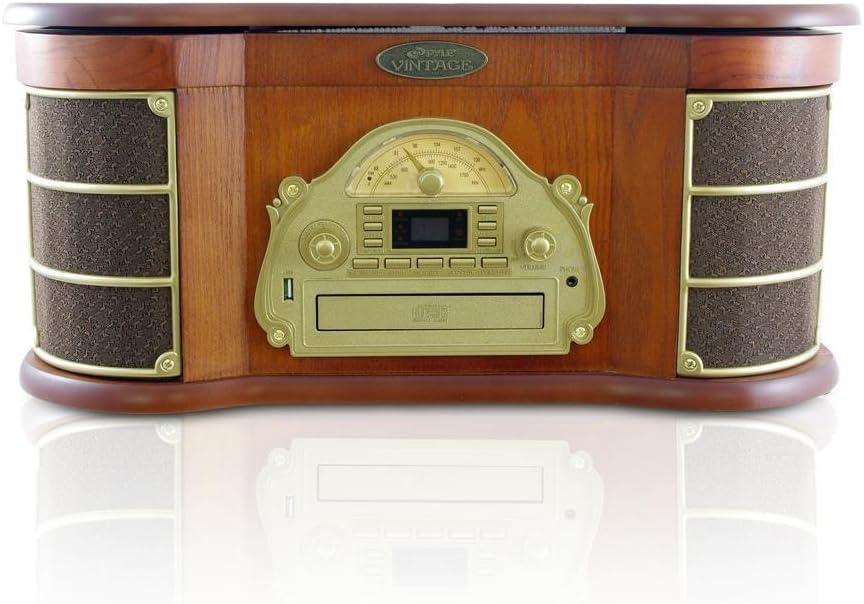 Amazon.com: Pyle PTCDS8UBT - Reproductor de CD y casete ...