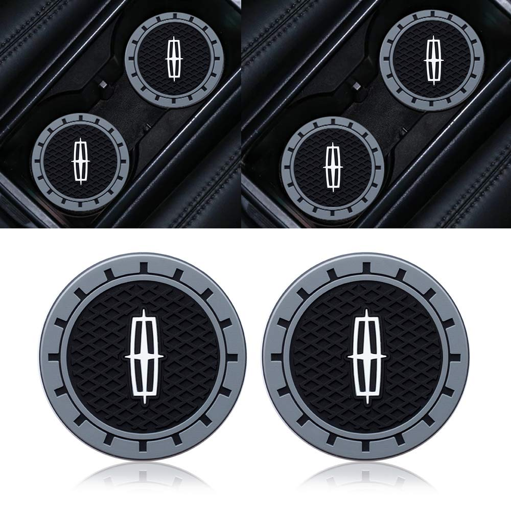 Goshion 2pcs 2.75 Inch Diameter Oval Tough Car Logo Vehicle Travel Auto Cup Holder Insert Coaster for Lexus All Models