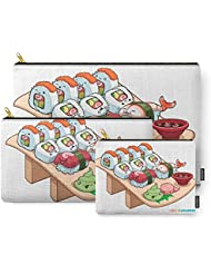 Society6 Kawaii California Roll And Sushi Shrimp And Tuna Nigiri Carry-All Pouch