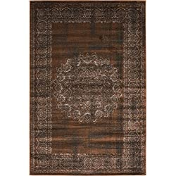 Luxury Modern Vintage Inspired Overdyed Area Rugs Chocolate Brown 4' x 6' FT Artis Designer Rug Colorful Craft Rugs and Carpet