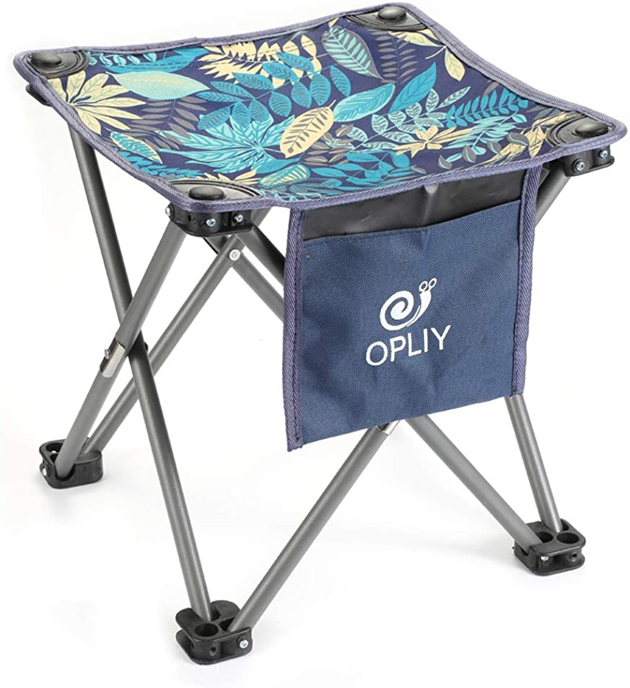OPLIY Camping Stool, Folding Samll Chair 11.5 inch / 13.5 inch Portable Camp Stool for Camping Fishing Hiking Gardening and Beach, Camping Seat with Carry Bag