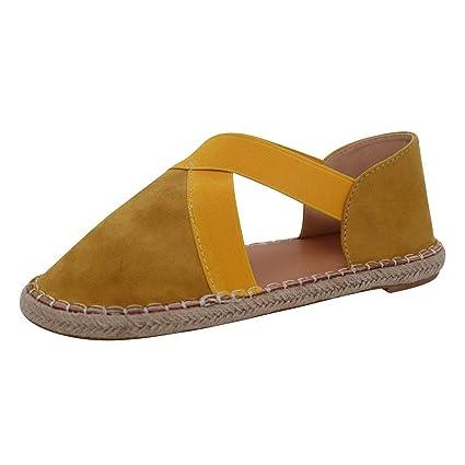 dc8557049901 Amazon.com  Peigen Sandals 2019 Hot New Women Ladies Fashion Retro Low Flat  Cross Tie Sandals Round Toe Casual Shoes  Arts