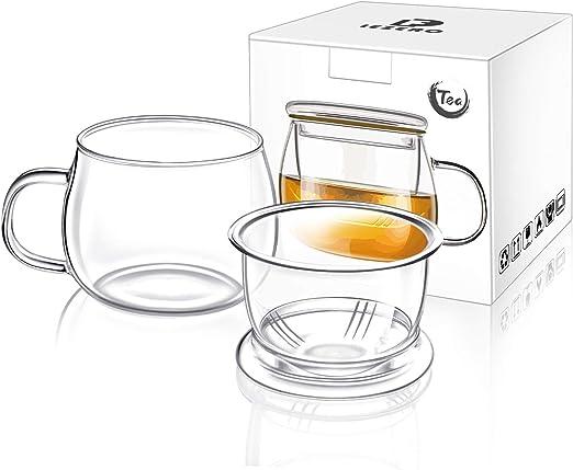 Amazon.com: Lezero - Tetera de cristal con tapa e infusor de ...