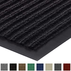 Gorilla Grip Original Low Profile Rubber Door Mat, 47x35, Heavy Duty, Durable Doormat for Indoor and Outdoor, Waterproof, Easy Clean, Home Rug Mats for Entry, Patio, High Traffic, Black