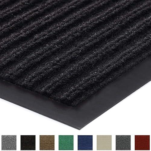 Gorilla Grip Original Low Profile Rubber Door Mat, 72×48, Heavy Duty, Durable Doormat for Indoor and Outdoor, Waterproof, Easy Clean, Home Rug Mats for Entry, Patio, High Traffic, Black