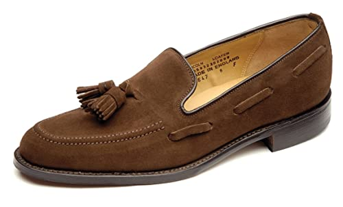 f155c5b9ff3 Loake Men s Lincoln Polo Brown Leather Suede Tassel Loafer Shoes (10 F (UK)