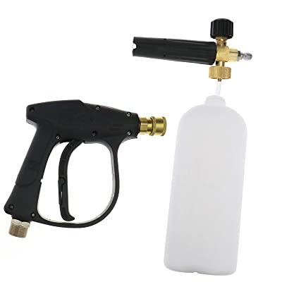 1/4Inch Spray Gun Foam Adjustable High Pressure Snow Foam Jet Car Lance Bottle Car Spray Gun: Home & Kitchen