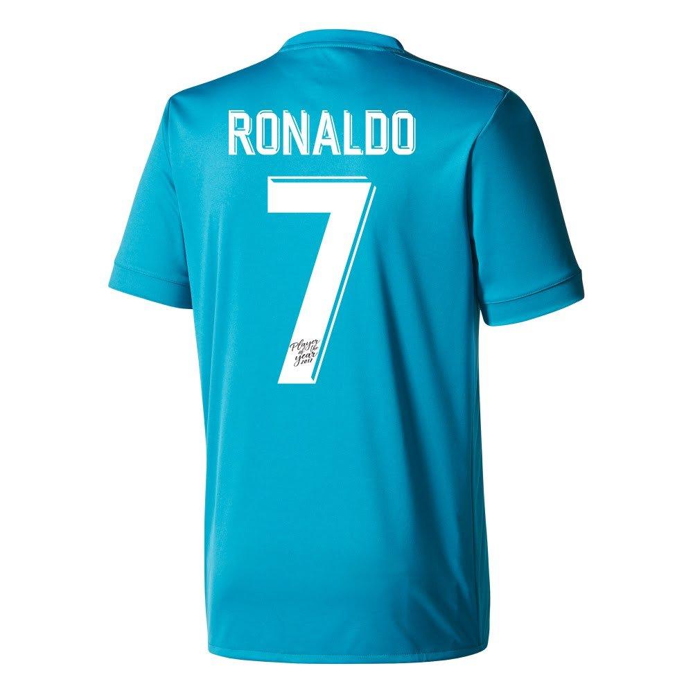 レアルマドリード3rd Ronaldo Jersey 2017 / 2018 (特別な年のプレーヤーの印刷) B076ZPGPZHX-Large