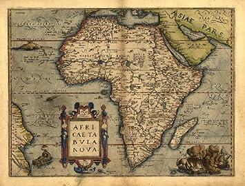 Carte De Lafrique Antique.Carte Ancienne De L Afrique Par Abraham Ortelius Taille A1