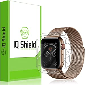 IQ Shield Full Body Skin Compatible with Apple Watch Series 4 (44mm)(3-Pack) + LiQuidSkin Clear (Full Coverage) Screen Protector HD and Anti-Bubble Film