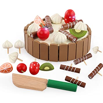 Amazoncom Tresbro Wooden Play Kitchen Toys for Toddlers Pretend