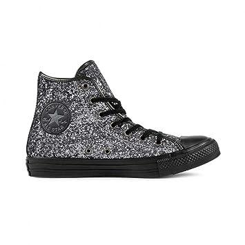 Converse A/S HI Glitter Damen Sportschuhe, silber / schwarz, 39 ...